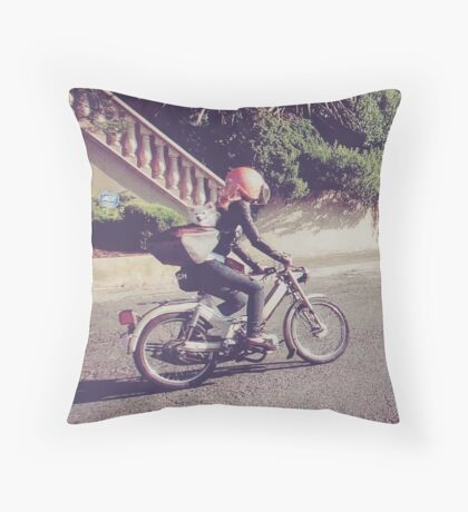 FoxRider Throw Pillow