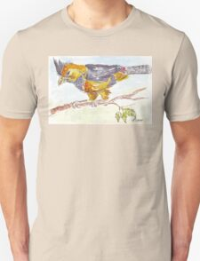 Crested Barbet in my garden Unisex T-Shirt