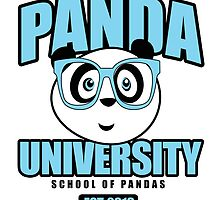 Panda University - Blue by Adamzworld