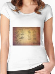 Lego Blocks Patent from 1961 Women's Fitted Scoop T-Shirt