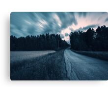 Roadway to the sky Canvas Print