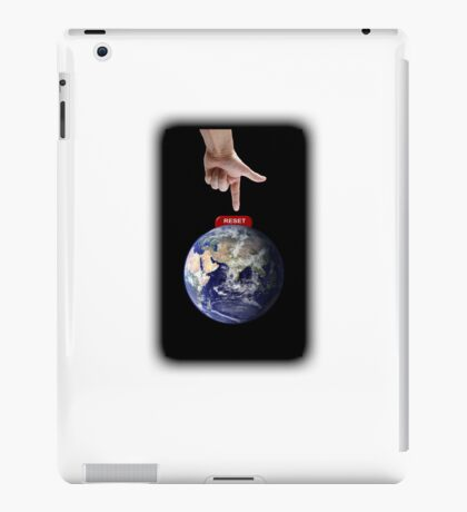 Reset Earth (white background) iPad Case/Skin