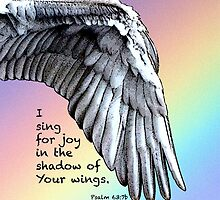 Sing For Joy Under Your Wings Rainbow iPad Case by MyArtefacts