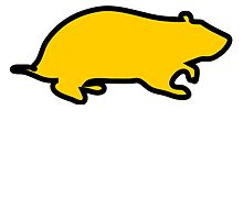 Yellow Hampster Outline by kwg2200