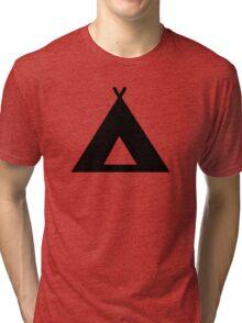 Camping Tent Tri-blend T-Shirt