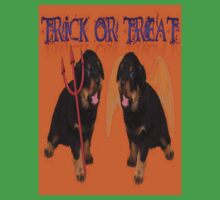Cute Rottweiler Halloween Trick or Treat Greeting Kids Clothes