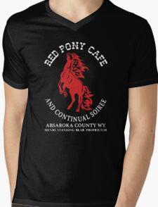 Red Pony Cafe Mens V-Neck T-Shirt