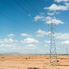 A power pole on the road to Essaouira, Morocco by Alexander Chesham
