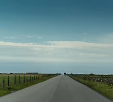 Open road in Bryne, Norway by Alexander Chesham