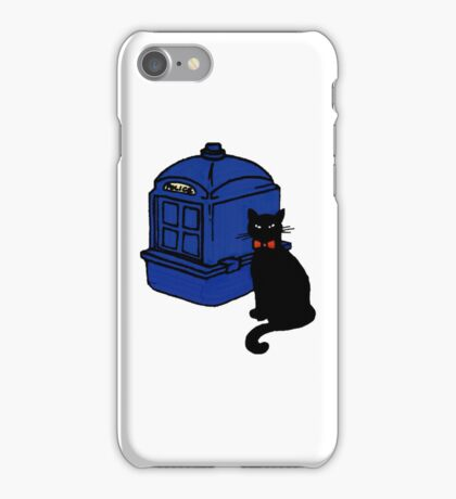 Kitty Who and the T.A.R.D.I.S iPhone Case/Skin