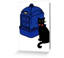Kitty Who and the T.A.R.D.I.S Greeting Card