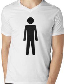 Man  Mens V-Neck T-Shirt