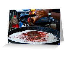 A Paella in the making... Greeting Card