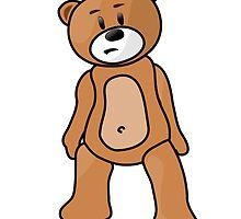Teddy Bear Cartoon by kwg2200