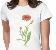 Calendula (C. officinalis) Botanical Womens Fitted T-Shirt