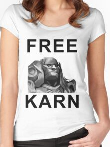 FREE KARN Shirt Women's Fitted Scoop T-Shirt