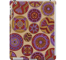 Circular abstract purple and brown pattern (ipad case) iPad Case/Skin