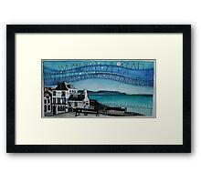 We are tied to the ocean Framed Print