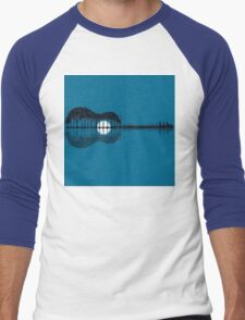 Trees sea and the moon turned guitar Men's Baseball ¾ T-Shirt