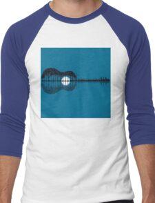 Trees sea and the moon turned guitar Men's Baseball ¾ T-Shirt
