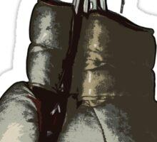 Fight - Vintage Boxing Gloves  v2 Sticker