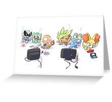 Retro Pokemon New Pokemon Greeting Card