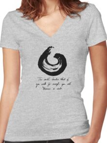 Lessons From the Earth 3 Women's Fitted V-Neck T-Shirt
