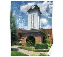 Clock Tower on the Square in Downtown Franklin Poster