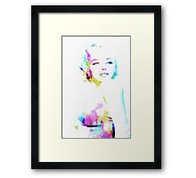 Norma Jeane In Watercolor Framed Print