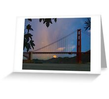 Moon Set Beyond The Golden Gate Greeting Card