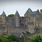 """ The Eastern wall of  Carcassonne castle"" by Malcolm Chant"
