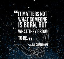 Harry Potter - Awesome quote of Albus Dumbledore. by alish