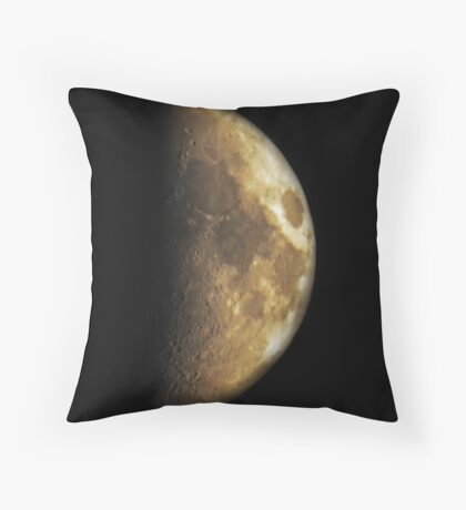 Moon in half Throw Pillow