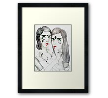 Lovers Lost In Space Framed Print