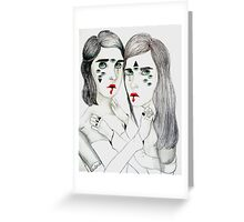Lovers Lost In Space Greeting Card