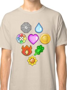 Pokémon! Gym Badges! Classic T-Shirt