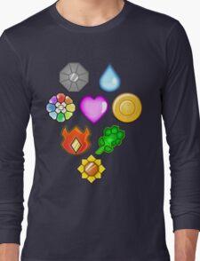 Pokémon! Gym Badges! Long Sleeve T-Shirt