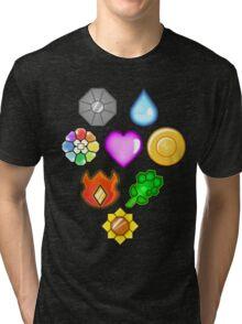 Pokémon! Gym Badges! Tri-blend T-Shirt