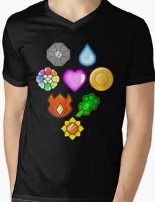 Pokémon! Gym Badges! Mens V-Neck T-Shirt