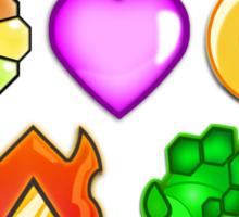 Pokémon! Gym Badges! Sticker