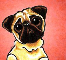 Fawn Pug Listen Up Red by offleashart