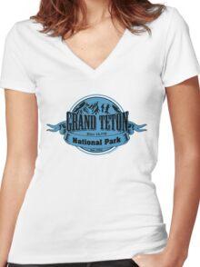 Grand Teton National Park, Wyoming Women's Fitted V-Neck T-Shirt