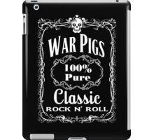 BOTTLE LABEL - WAR PIGS - solid white iPad Case/Skin