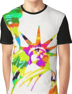 Statue Of Liberty Colorful Abstract Graphic T-Shirt