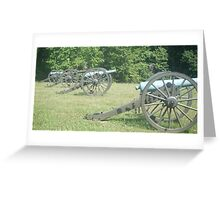 4 Cannon Greeting Card