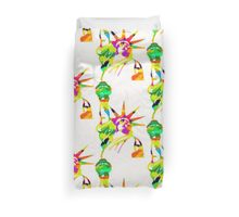 Statue Of Liberty Colorful Abstract Duvet Cover