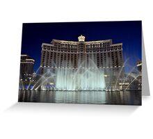Bellagio Water Fountain Greeting Card
