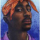 Tupac Shakur Hip Hop Portrait by Jef2D