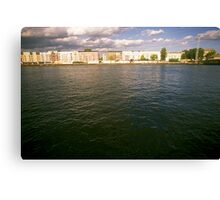 Bank of the river Spree, Berlin 2012 Canvas Print