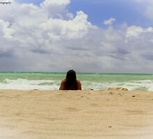 Miami Beach Girl by NathanGordon